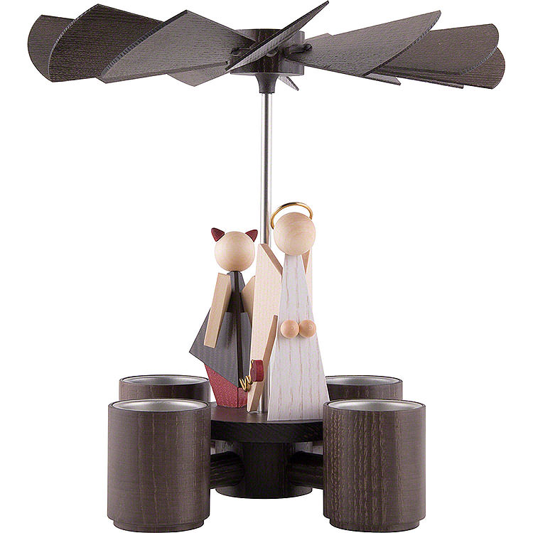 1 - Tier Pyramid  -  Angel & Devil  -  26cm / 10.2 inch
