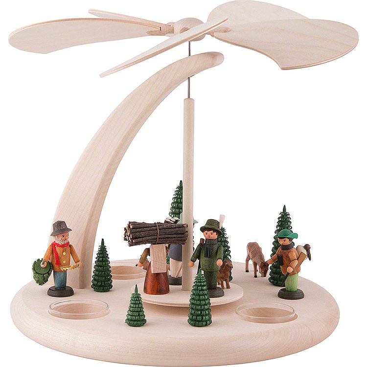 1 - Tier Pyramid  -  Forest Life  -  25cm / 10 inch
