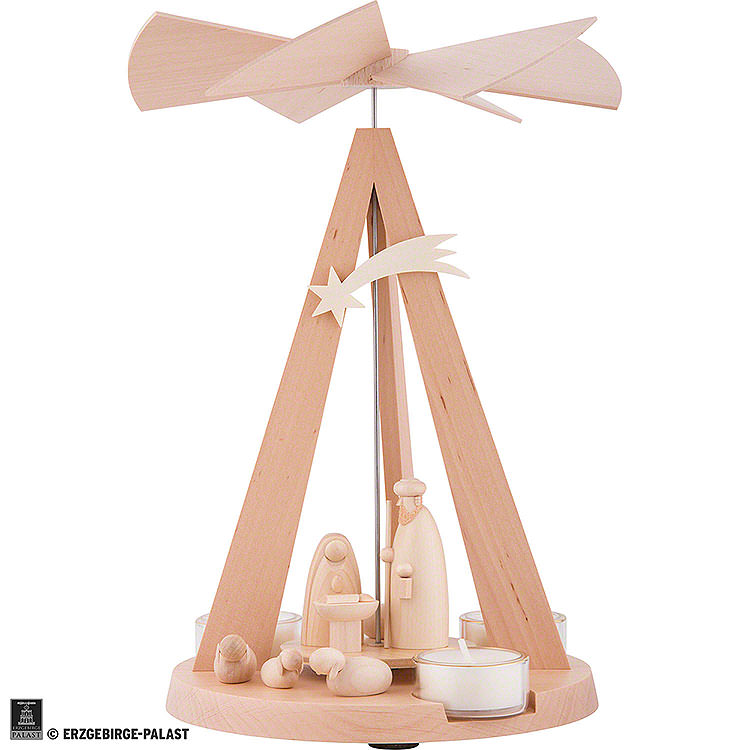 1 - Tier Pyramid Mini - Delta Nativity  -  Natural  -  26cm / 10.2 inch