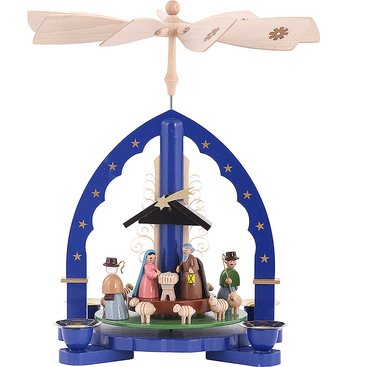 1 - Tier Pyramid  -  Nativity Scene  -  27cm / 11 inch