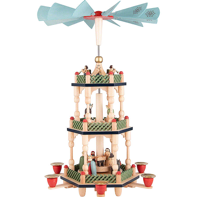 3 - Tier Pyramid  -  Nativity  -  Colored  -  46cm / 18.1 inch