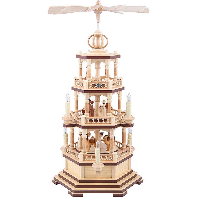 3 - stöckige Pyramide Heilige Geschichte  -  58cm  -  230 V Elektromotor