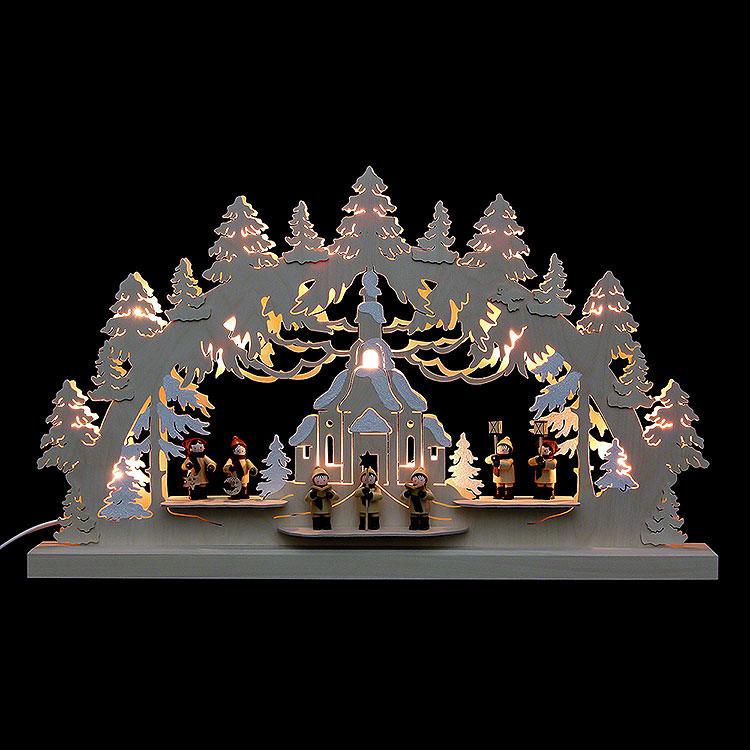 3D - Doppelschwibbogen Seiffener Kirche  -  62x37x5,5cm