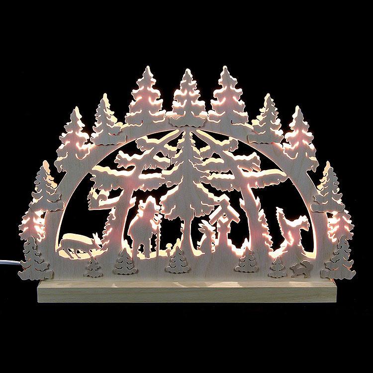 3D - Doppelschwibbogen Waldmotiv  -  42x30x4,5cm