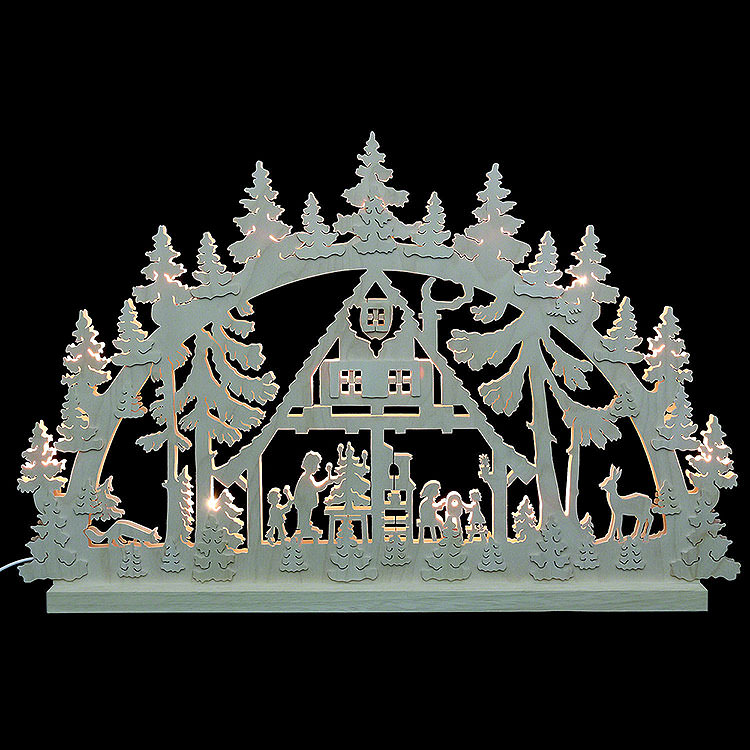 3D Double Arch  -  Forest Hut  -  74x47x5,5cm / 29x18x2 inch