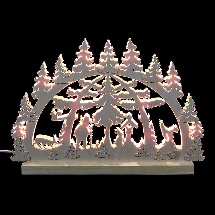3D Double Arch  -  Forest Scene  -  42x30x4,5cm / 16x12x2 inch