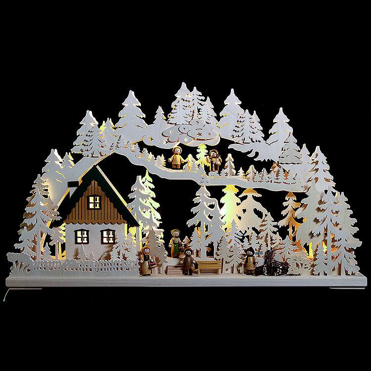 3D - Schwibbogen Waldgänger  -  72x43x8cm