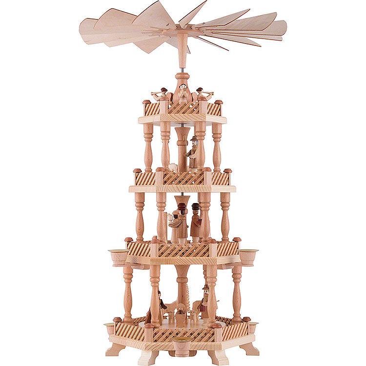 4 - stöckige Pyramide Christi Geburt  -  58cm