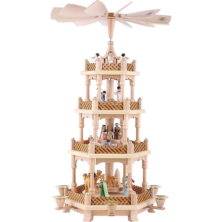 4 - stöckige Pyramide Christi Geburt bunt  -  54cm