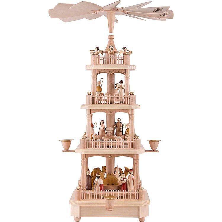4 - stöckige Pyramide Christi Geburt natur  -  45cm