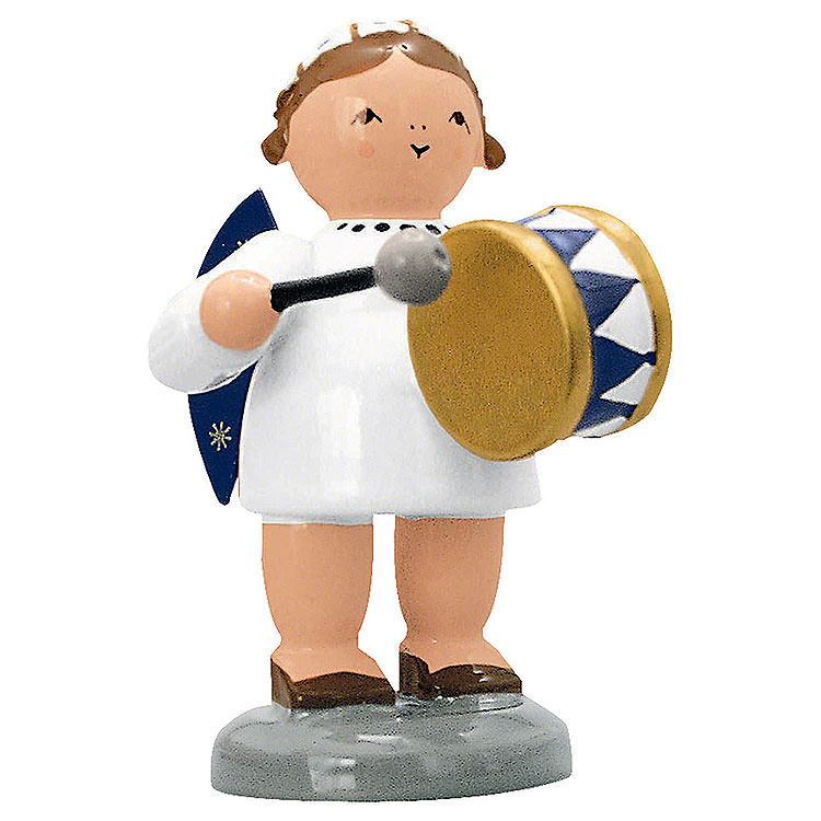 Angel with Drum  -  5cm / 2 inch
