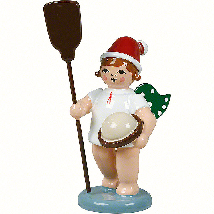 Bäckerengel mit Mütze und Ofenschieber  -  6,5cm