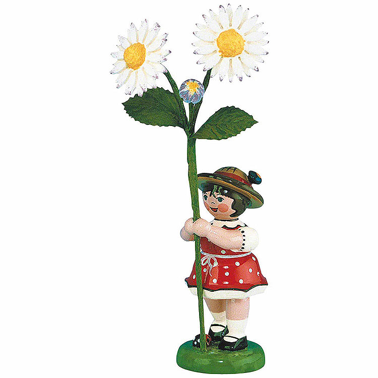 Blumenkind Mädchen mit Gänseblume  -  11cm