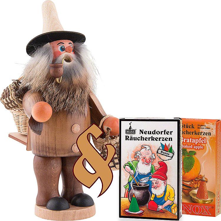 Bundle  -  Smoker Basket Salesman plus two packs of incense