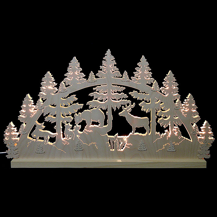 Candle Arch  -  Animals in the Forest  -  72x40x5.5cm / 28.4x15.6x2 inch