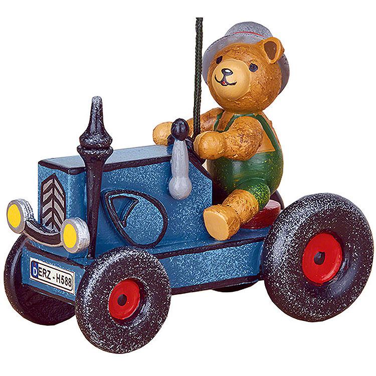 Christbaumschmuck Traktor mit Teddy  -  8cm