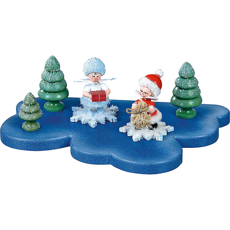 Cloud for Snowflake 1 Floor Small  -  18x11cm / 7x4.3 inch