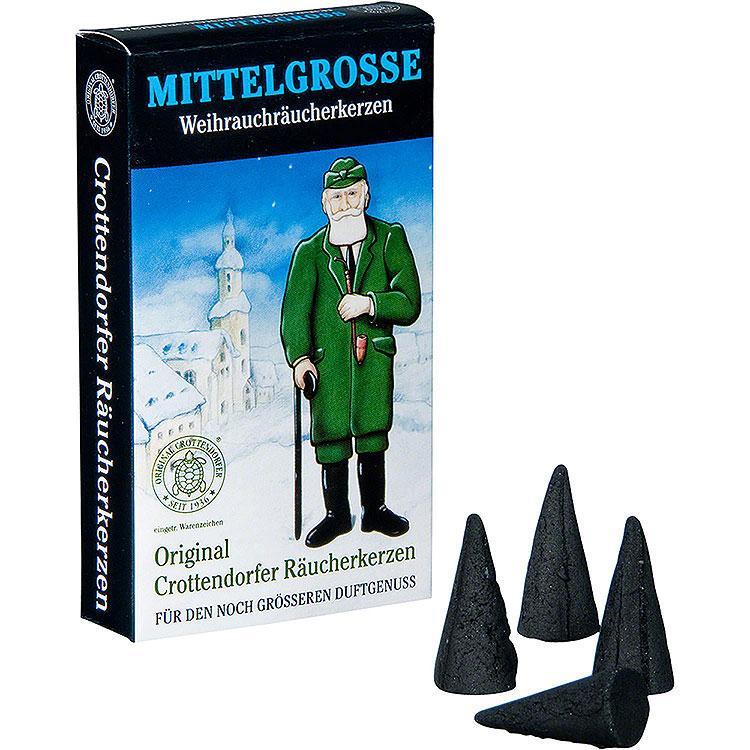 Crottendorfer Räucherkerzen  -  Weihnachtlicher Weihrauch  -  mittelgroß