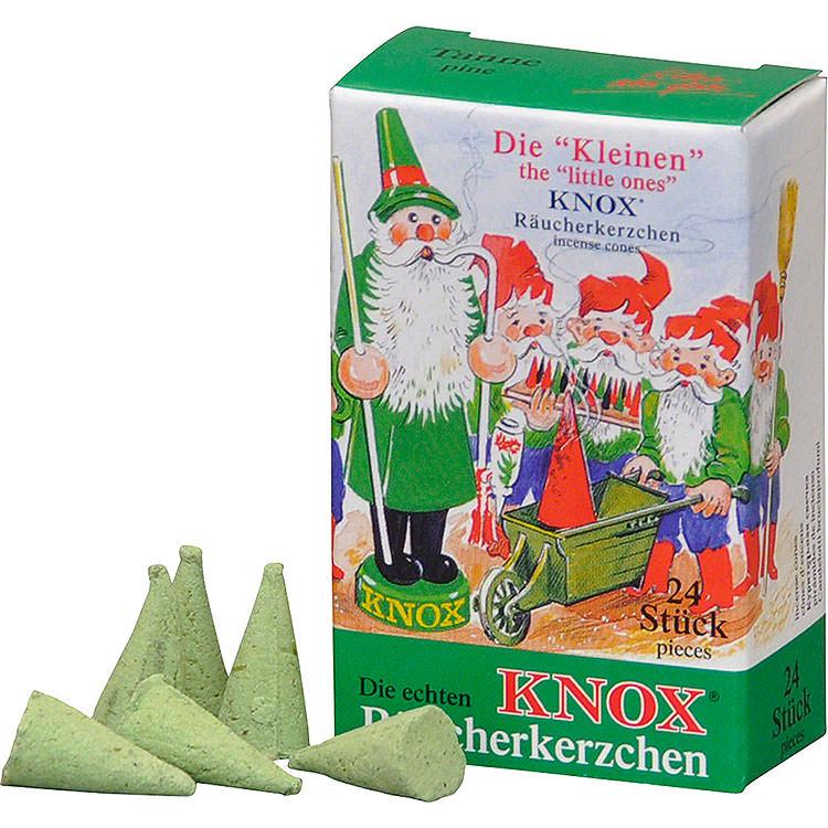 """Die """"Kleinen"""" KNOX - Räucherkerzen  -  Tanne  -  24 Stück  -  Mini"""