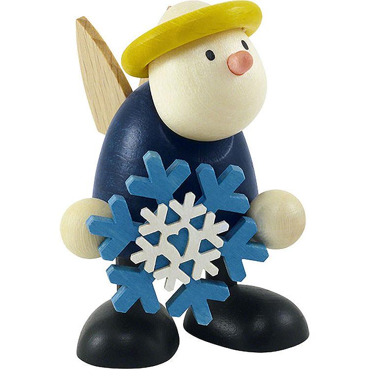 Engel Hans mit Schneeflocke  -  7cm