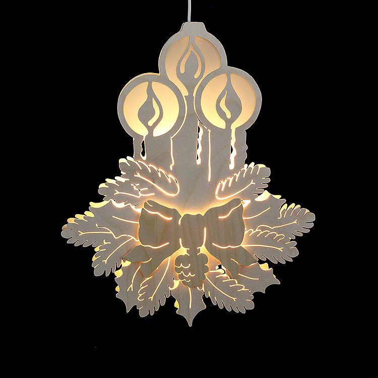 Fensterbild Drei Kerzen  -  Durchmesser 30,5cm