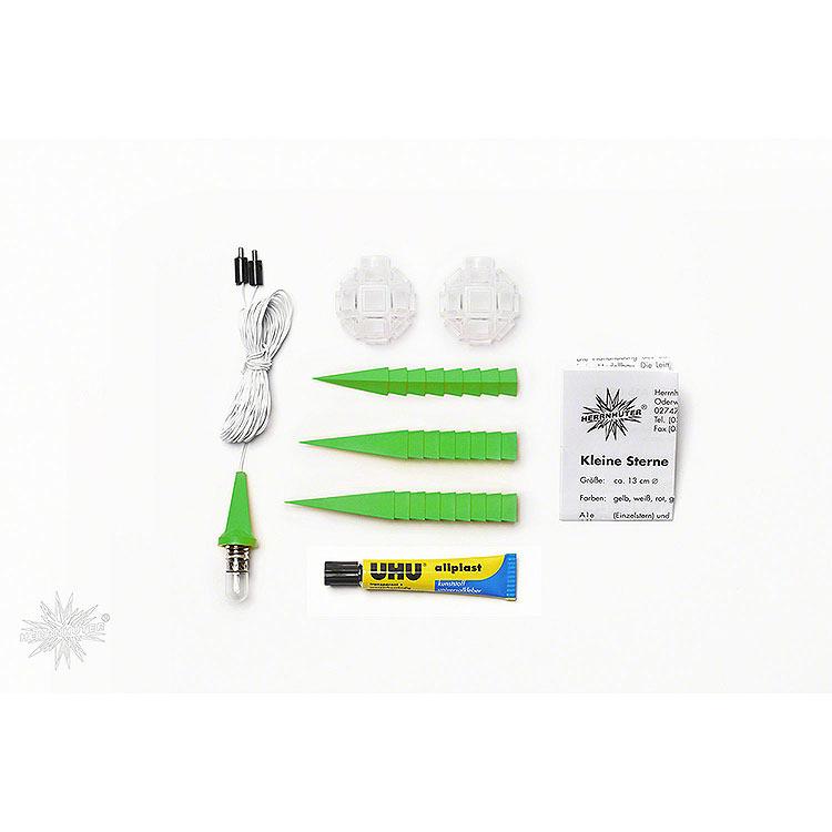 Herrnhuter Bastelstern A1b grün Kunststoff  -  13cm