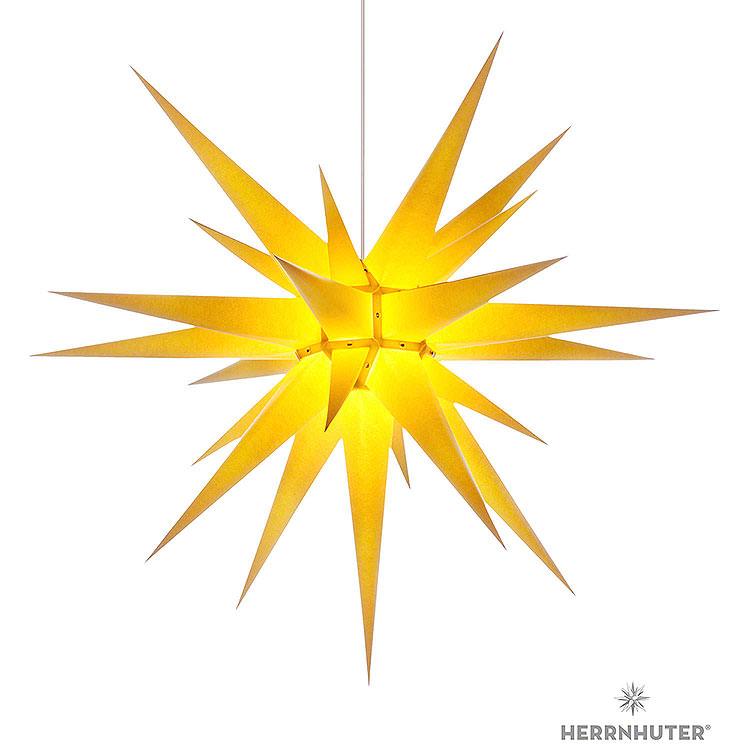 Herrnhuter Stern I8 gelb Papier  -  80cm
