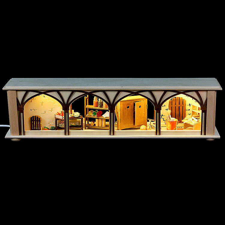 Illuminated Stand Cellar for Candle Arches  -  50x12x10cm / 20x5x4 inch