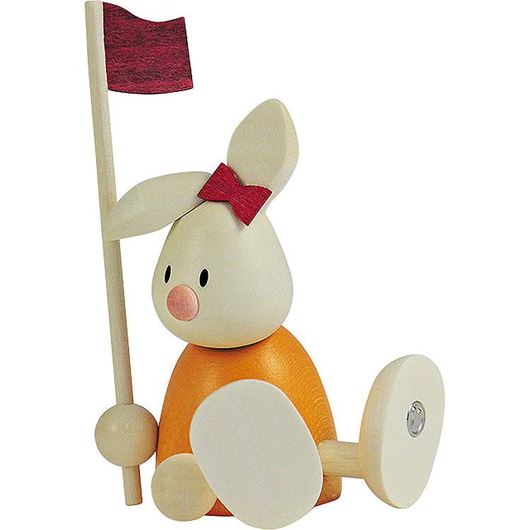 Kaninchen Emma beim Golf  -  Fahne  -  9cm