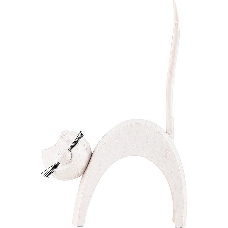 Katze weiß  -  stehend  -  13cm