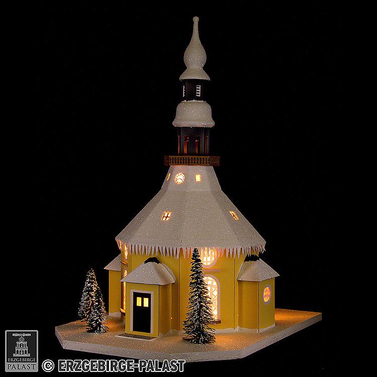 Lichterhaus Seiffener Kirche  -  40cm