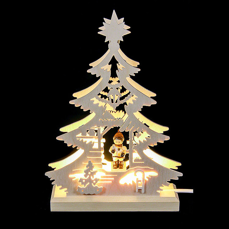 Light Triangle  -  Christmas Market  -  LED  -  23.5x15.5x4.5cm / 9.06x5.91x1.57 inch
