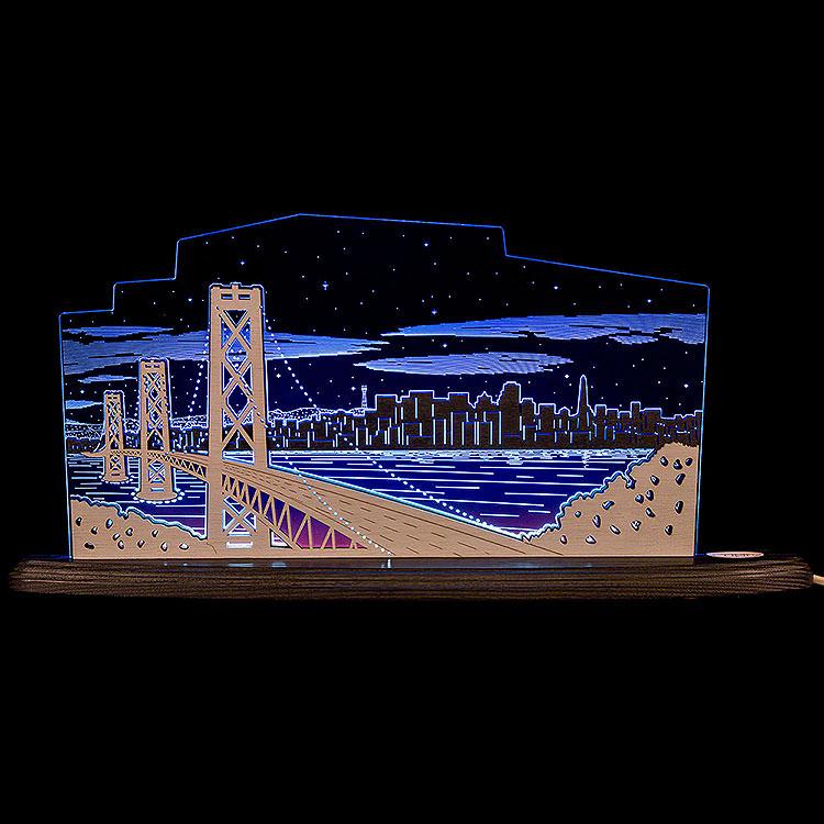 "Motivleuchte ""Blick über San Francisco""  -  47x22,3cm"
