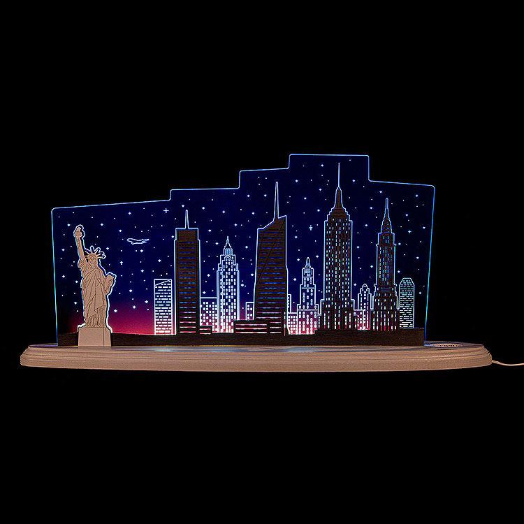 """Motivleuchte """"New York, New York""""  -  47x21cm"""