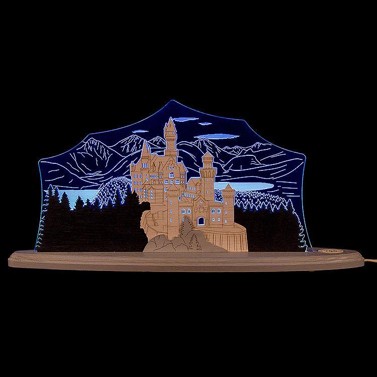 """Motivleuchte """"Schloss Neuschwanstein""""  -  47x21,8cm"""