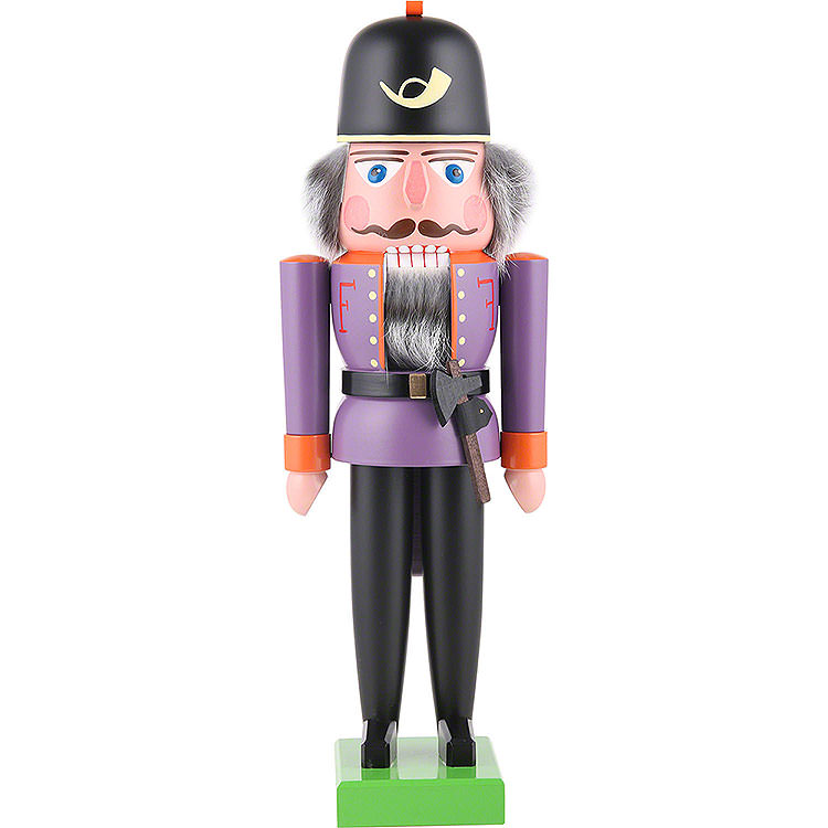 Nussknacker Feuerwehrmann lila  -  36cm