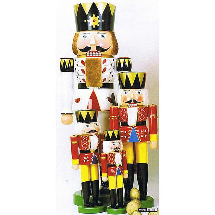 Nussknacker König rot  -  120cm