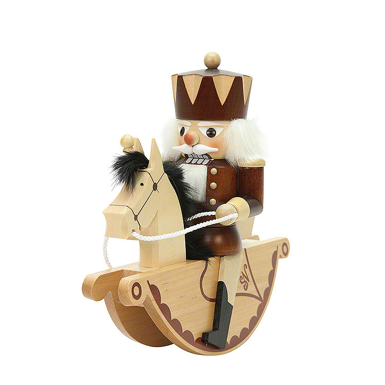 Nutcracker  -  Horse Rider King Natural Colors  -  23,0cm / 9 inch