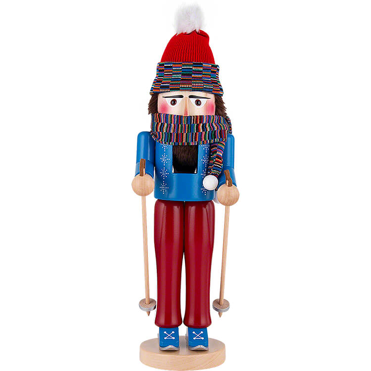 Nutcracker  -  Skier standing  -  43cm / 16.9 inch