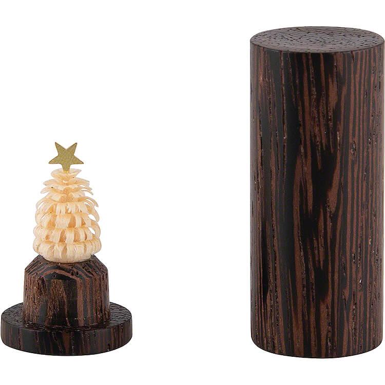 Pocket Christmas Tree  -  Wenge   -  4,5cm / 1.8 inch
