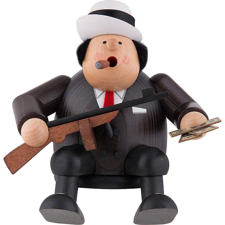Räuchermännchen Al Capone  -  Kantenhocker  -  15cm