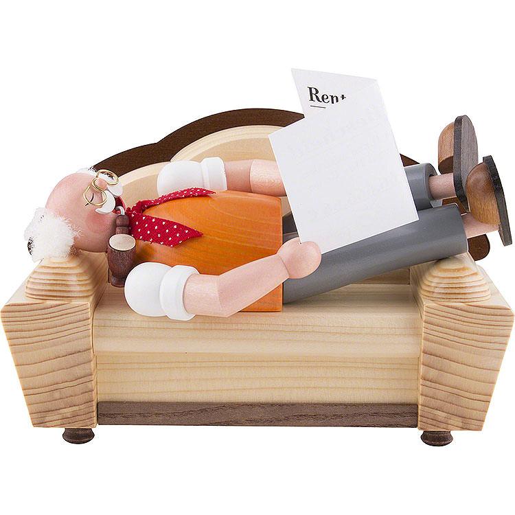 Räuchermännchen Ruheständler / Rentner natur  -  13cm