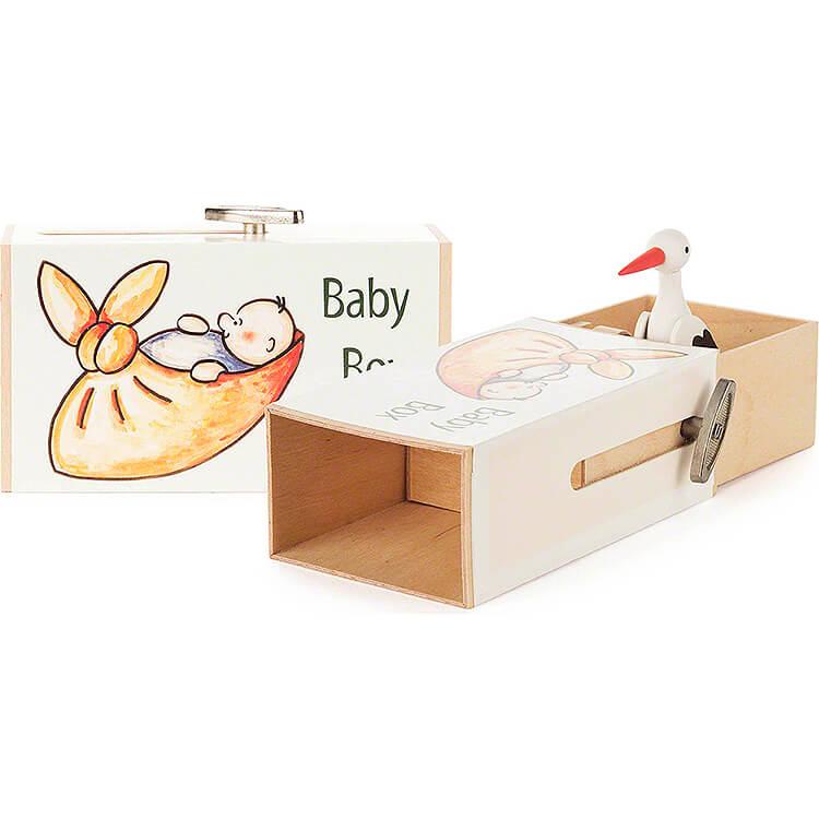 Schiebebox »Baby - Box« mit Storch  -  3,5cm