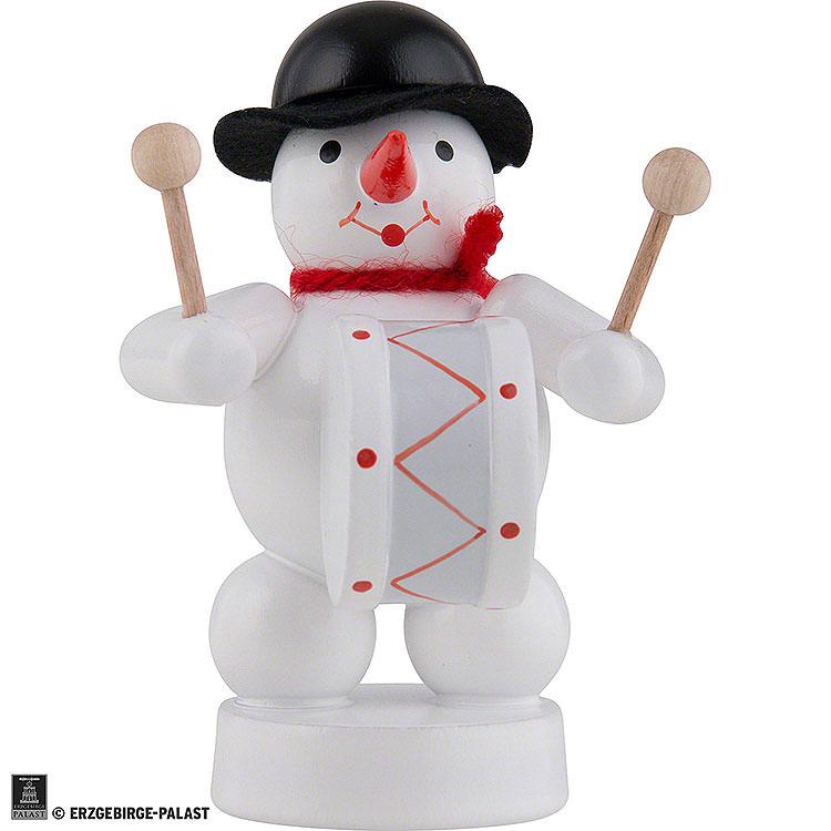 Schneemann Musikant mit Pauke  -  8cm