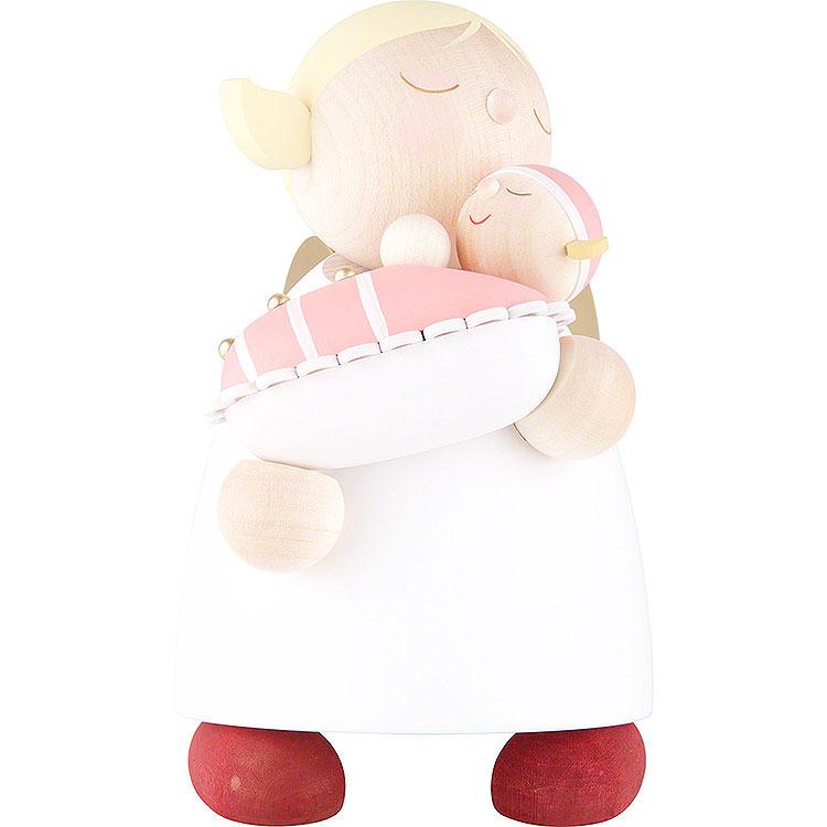 Schutzengel mit Baby Mädchen  -  16cm
