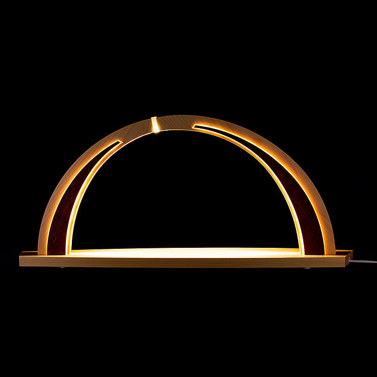 Schwibbogen modern wood  -  ohne Bestückung  -  57x26cm