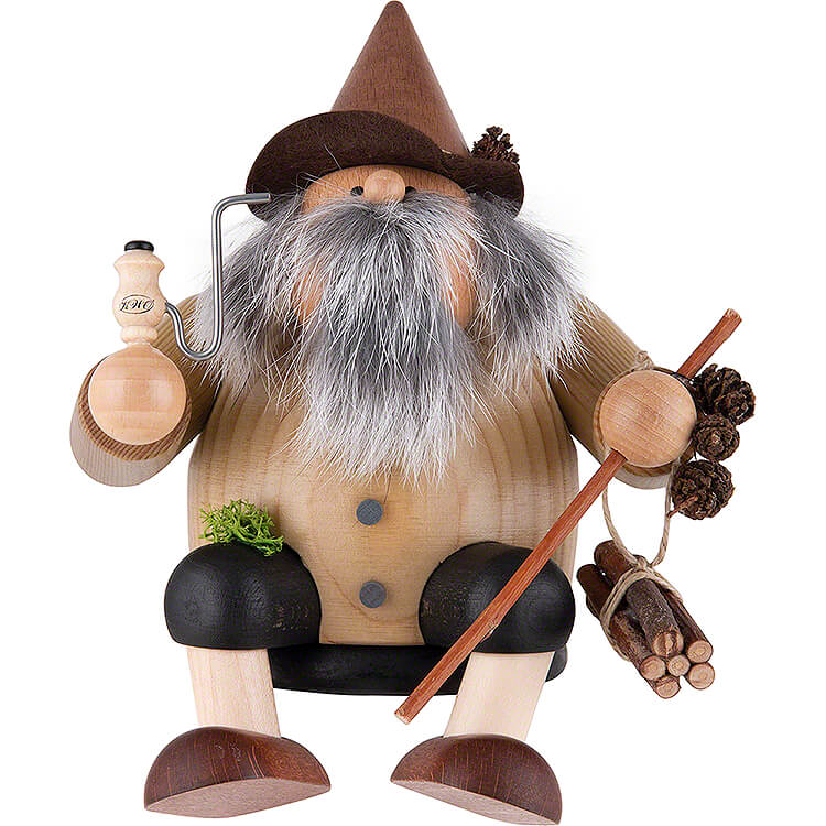 Smoker  -  Forest Gnome  -  Edge Stool  -  15cm / 5.9 inch