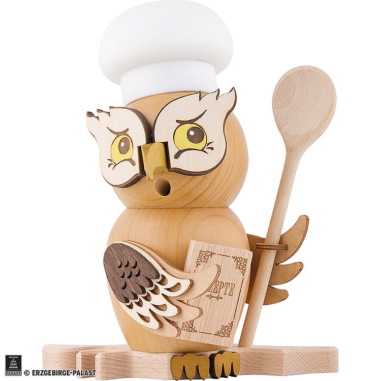 Smoker  -  Owl Cook/Chef  -  15cm / 5.9 inch