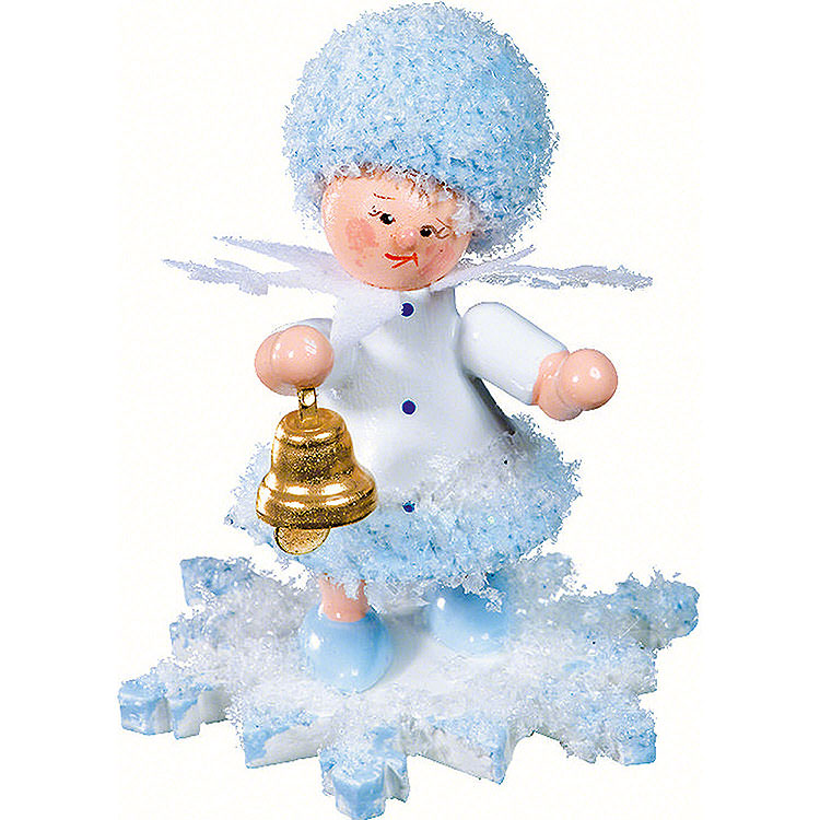 Snowflake with Little Bell  -  5cm / 2 inch