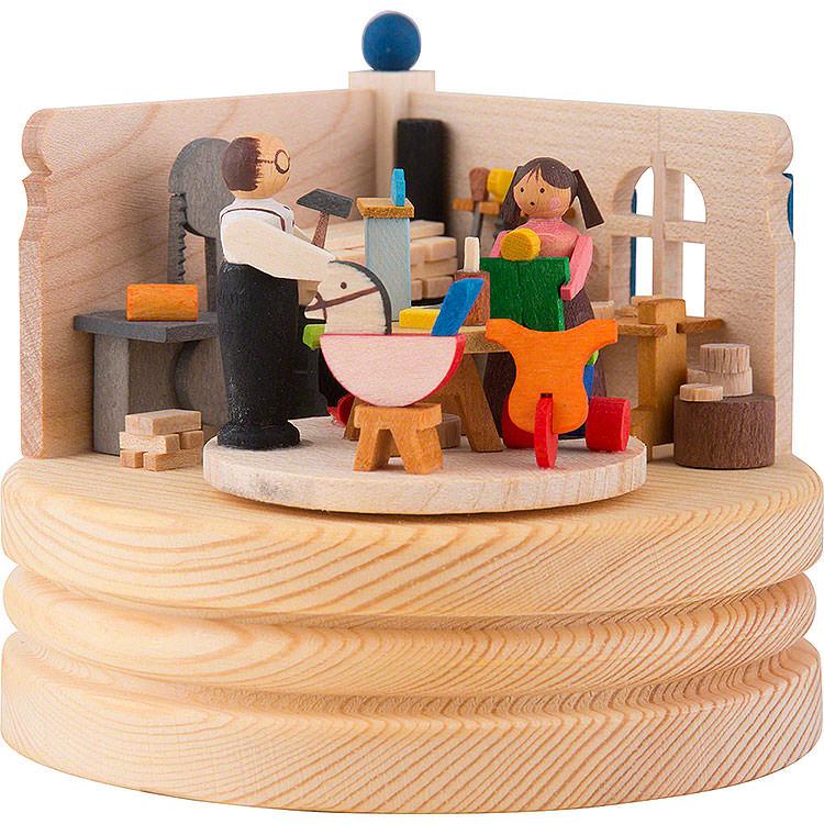 Spieldose Spielzeugmacherwerkstatt  -  8,5cm